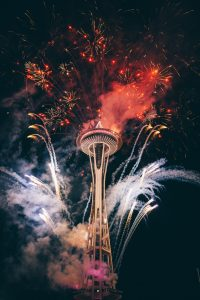 New Year's at space needle seattle