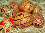 Decorated ostara eggs